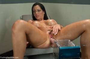 Tattooed brunette loves to squirt and to - XXX Dessert - Picture 7