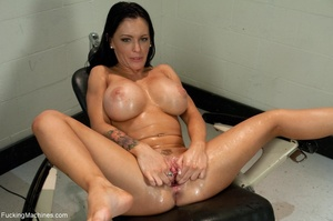 Tattooed brunette loves to squirt and to - XXX Dessert - Picture 18