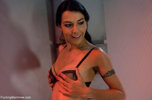 Slim dark haired lady drilling her both  - XXX Dessert - Picture 2