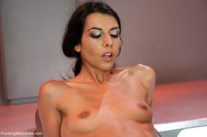 Slim dark haired lady drilling her both  - XXX Dessert - Picture 7