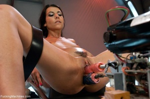 Slim dark haired lady drilling her both  - XXX Dessert - Picture 9