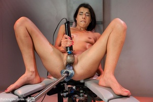 Slim dark haired lady drilling her both  - XXX Dessert - Picture 14