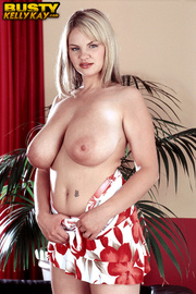 blonde red and white