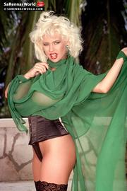 pretty blonde sexy green