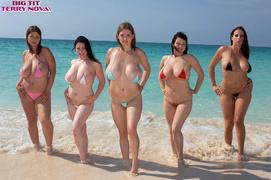 beach, big tits, busty, pretty