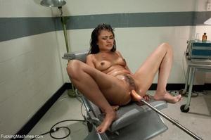 Brunette hottie squirts like a slut and  - XXX Dessert - Picture 13