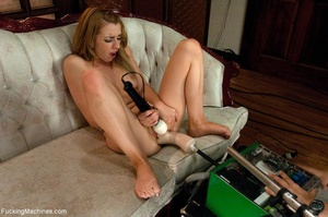 Cute blondie with a trimmed cunt drilled - XXX Dessert - Picture 2
