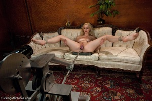 Blonde darling spreads her legs and gets - XXX Dessert - Picture 12