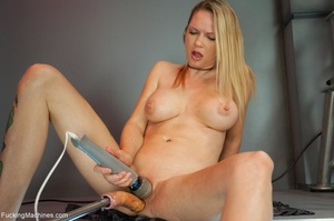 Tattooed blonde with huge tits gets her  - XXX Dessert - Picture 2