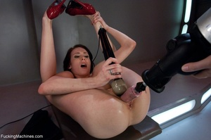 Long legged brunette gal in red shoes dr - XXX Dessert - Picture 16