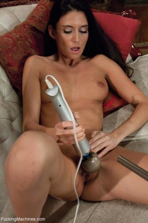 Long legged brunette slut enjoys in a fr - XXX Dessert - Picture 2