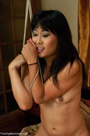 Asian porn star tied up and drilled by a - XXX Dessert - Picture 17