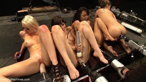 These four horny sluts getting drilled w - XXX Dessert - Picture 12