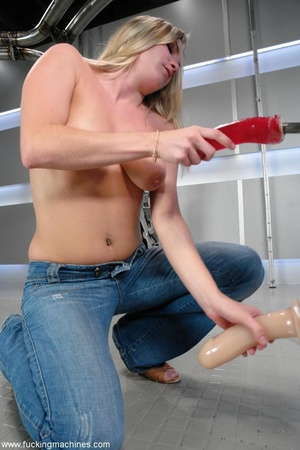 Blonde gal with nice natural tits gets d - XXX Dessert - Picture 1