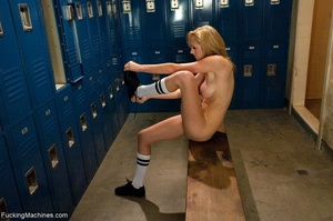 Slender blonde bitch having a solo sessi - XXX Dessert - Picture 2
