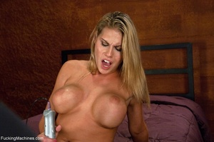 Blonde bitch with perky titties gets a d - XXX Dessert - Picture 2