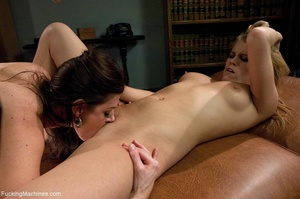Two bitches having wild fun with sex toy - XXX Dessert - Picture 4