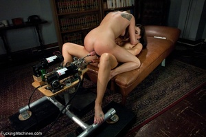 Two bitches having wild fun with sex toy - XXX Dessert - Picture 7