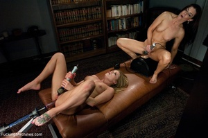 Two bitches having wild fun with sex toy - XXX Dessert - Picture 15