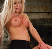 Well-hung blonde shemale sticks it to a dark-haired harlot who adores
