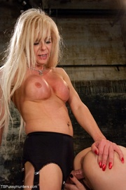 well-hung blonde shemale sticks