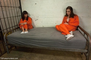 Sex in a jail cell is shared between a t - XXX Dessert - Picture 2