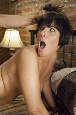 T-girl slides sexy pink panties off her  - XXX Dessert - Picture 12