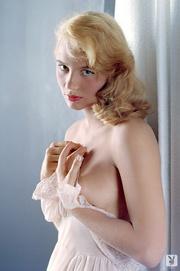 50's playboy blonde model