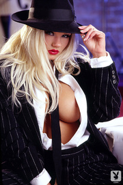 classy blonde lady suit
