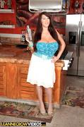 bar, big tits, skirt, white