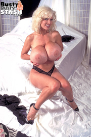 slim blonde black lingerie