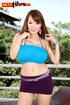 Tasty Asian miracle in bikini drops blue bikini to show ripe big tits