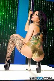 hot tattoed stripper fishnet