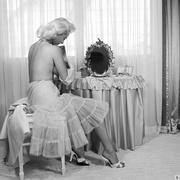 vintage blonde model lingerie