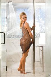 busty blonde lady posing