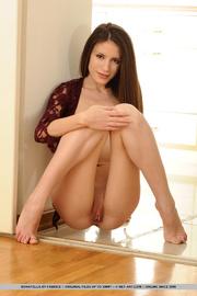 alluring brunette displays her
