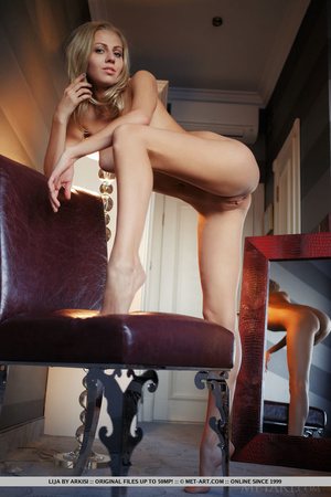 Blonde bombshell in black and red linger - XXX Dessert - Picture 17