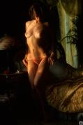 brunette, erotica, mirror, tits