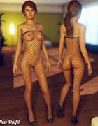 Perky cartoon babes in fishnet pantyhose, bras and sexy dresses for your