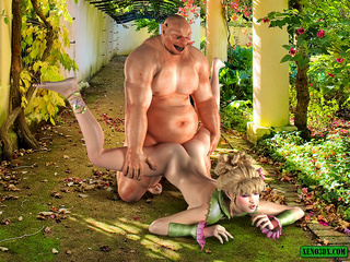 Busty blondie gets seized and banged badly by bald - Picture 5