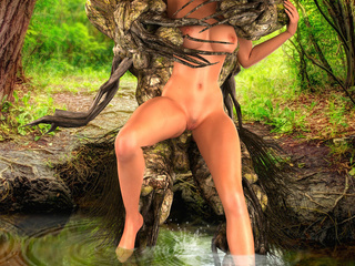 Lewd water sprite taking brunette buxom in doggy - Picture 5