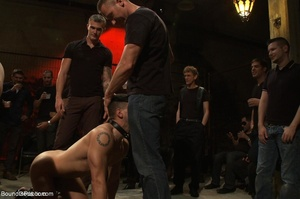Young gay dude gets banged by many horny - XXX Dessert - Picture 9