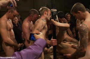 Young gay dude gets banged by many horny - XXX Dessert - Picture 15