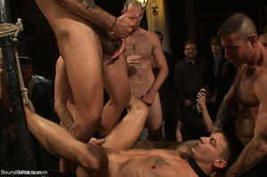 Young gay dude gets banged by many horny - XXX Dessert - Picture 18