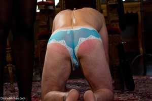 Loser in blue panties is spanked, suspen - XXX Dessert - Picture 2