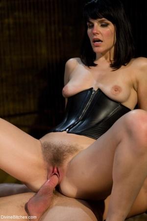 Bitch in a black corset fucks a guy afte - XXX Dessert - Picture 17