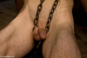 Ass-licking loser is bound with chain an - XXX Dessert - Picture 4