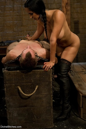 Ass-licking loser is bound with chain an - XXX Dessert - Picture 18