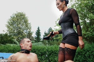 In a sexy outdoor setting, a man serves  - XXX Dessert - Picture 6