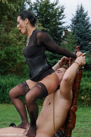 In a sexy outdoor setting, a man serves  - XXX Dessert - Picture 13